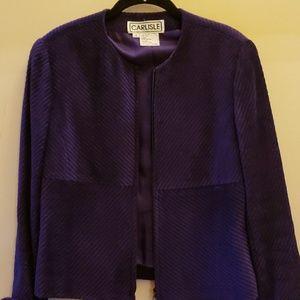 Carlisle soft purple zip blazer 6